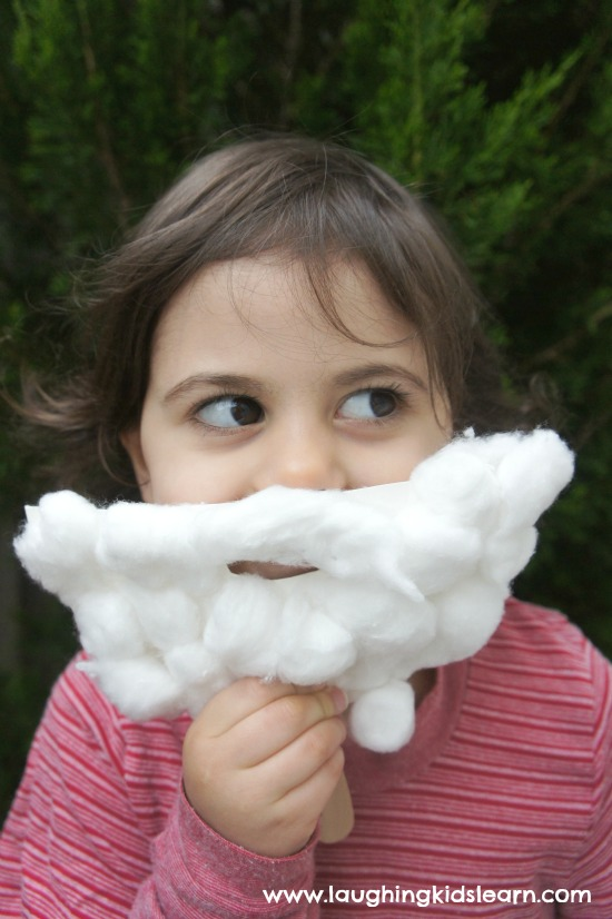 Santa beard craft mask