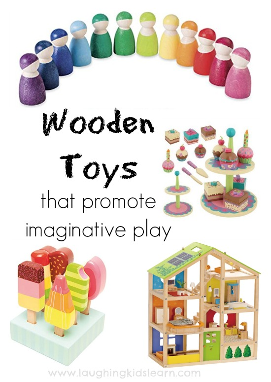 Wooden toys that promote imaginative play