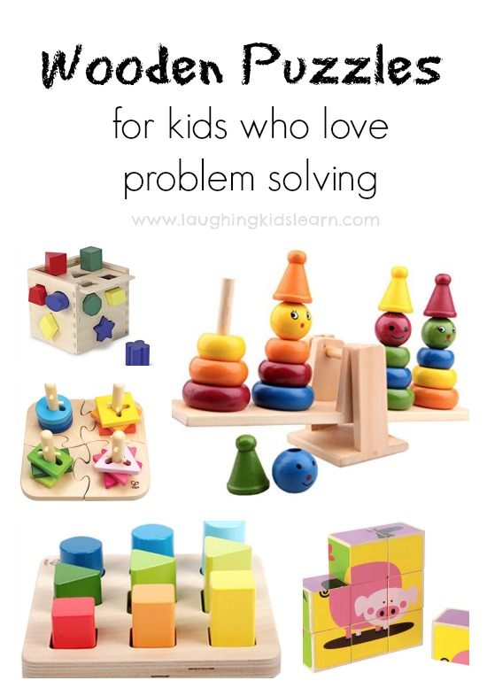 wooden puzzles for kids who love problem solving