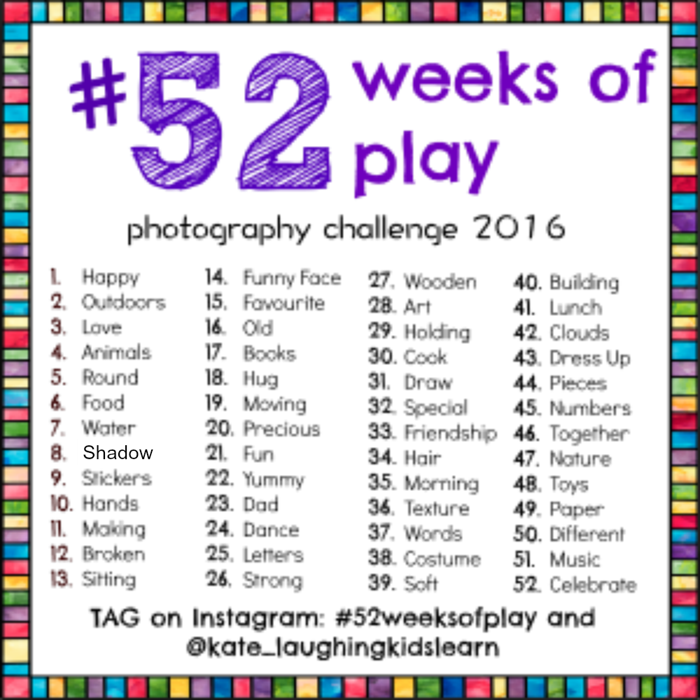 #52weeksofplay photo challenge 2016 that shares photographs of children engaging in everyday play.
