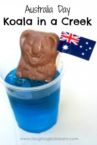 Fun Australia Day food idea. Koala in a Creek with jelly
