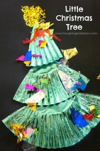 little christmas tree cupcake liner craft