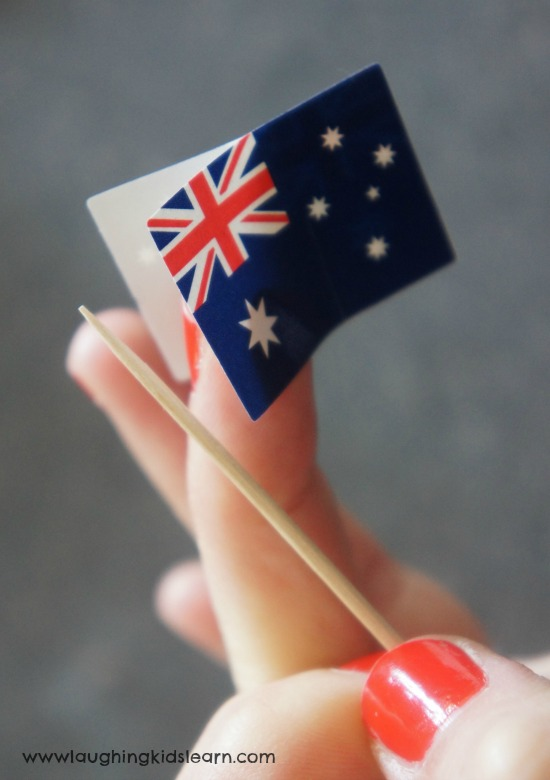 How to make a small Australian flag