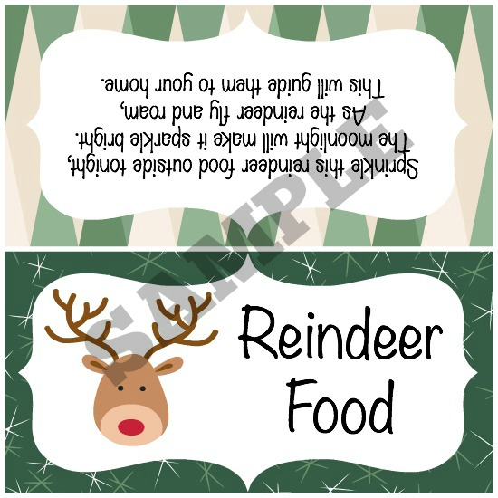 image regarding Printable Reindeer Food Tags identify Reindeer Meals Recipe