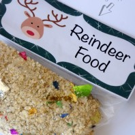 Reindeer food recipe and printable bag topper