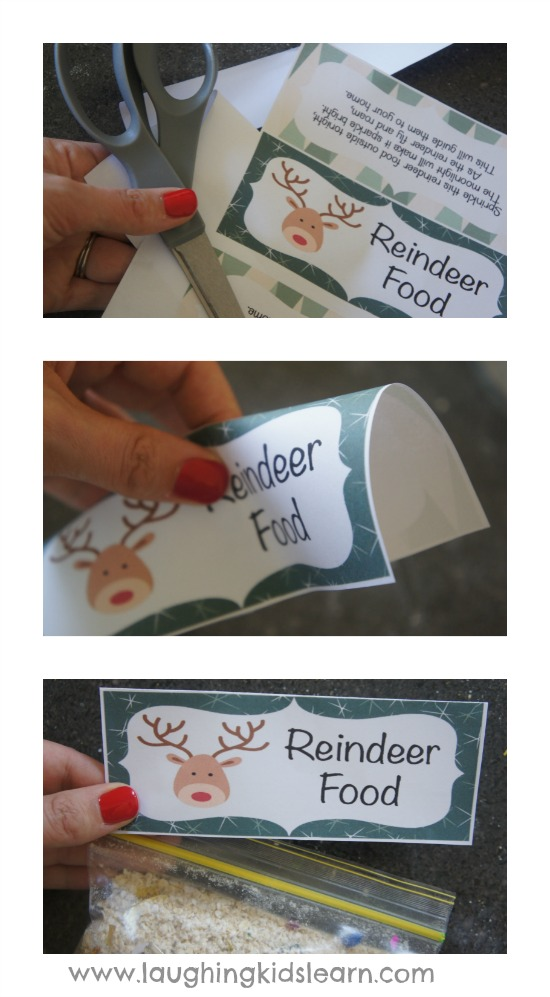 Reindeer printable bag topper