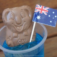 Fun food idea for Australia Day – koala in a creek
