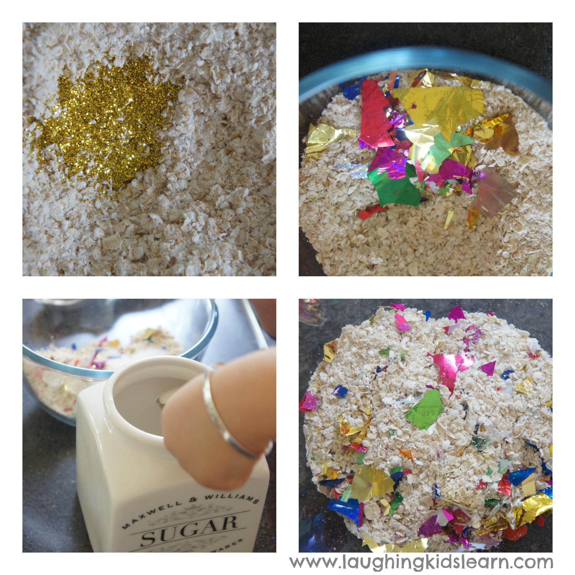 reindeer food recipe and printable bag topper laughing kids learn
