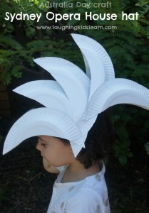 Australia Day craft Sydney Opera House hat