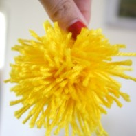 Wattle Pompom in yellow