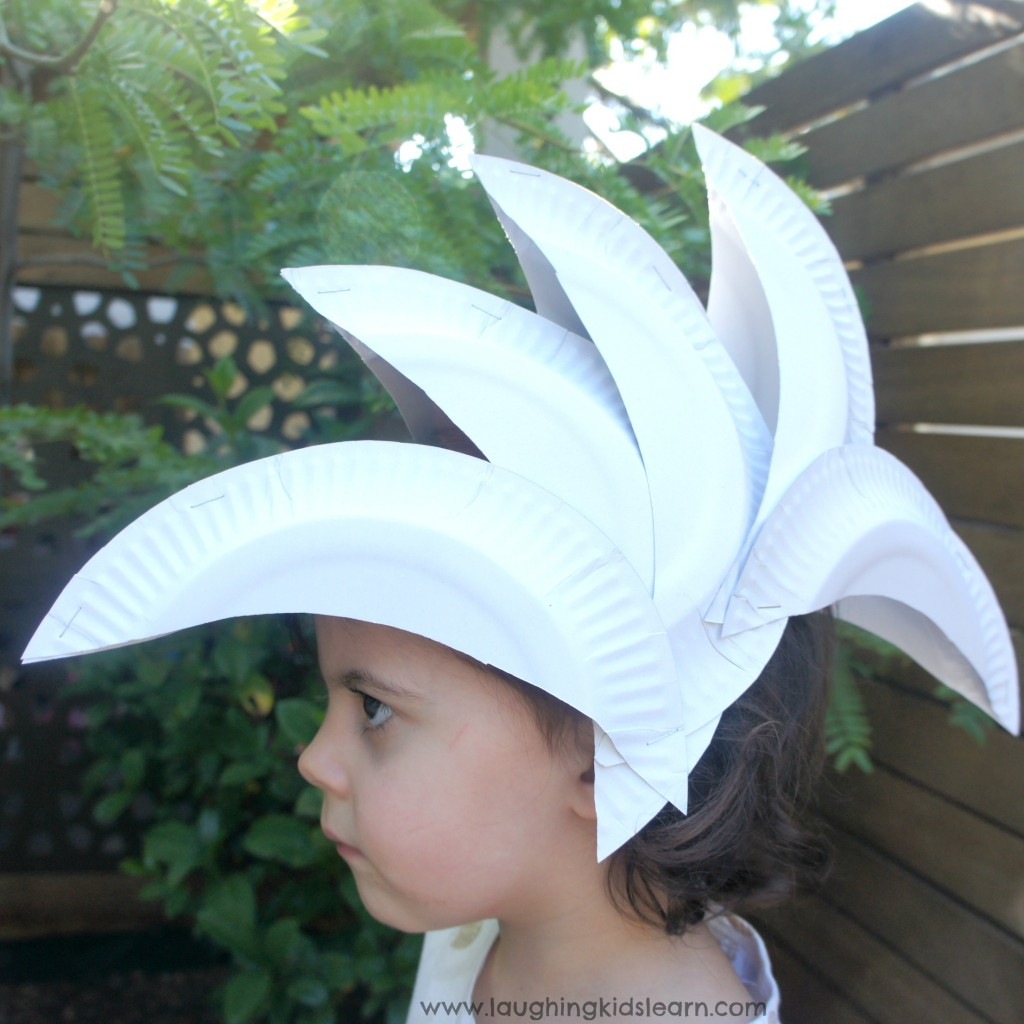 Sydney Opera House Hat Made From Paper Plates Laughing