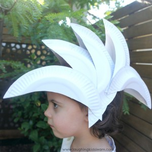 Sydney Opera House hat made from paper plates