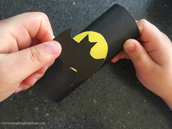 adding batman paper cutout