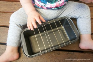 Homemade baby guitar instrument using rubber bands
