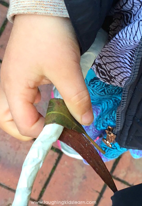 making nature wand for outdoor play