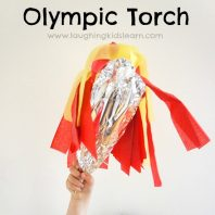 Simple Olympic Games torch craft for kids