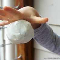 Sticky ball activity for babies and toddlers