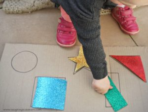 Colour and shape matching activity