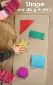 DIY shape matching activity for kids