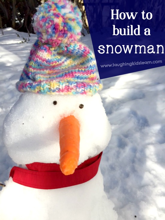 How to build a snowman with kids
