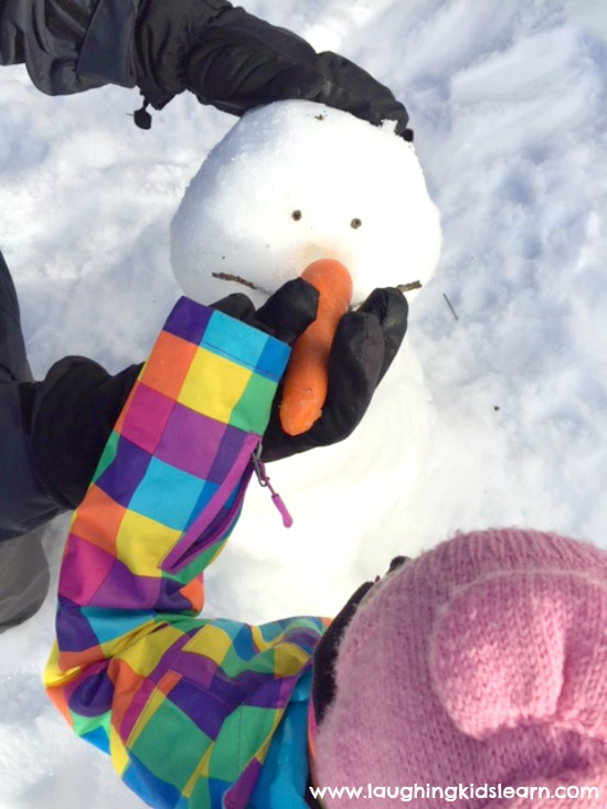decorate frozen snowman with kids