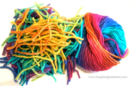 Woollen bunch of yarn