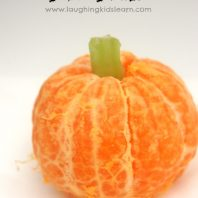 How to make an orange Halloween pumpkin snack for kids