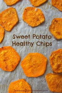 how to bake healthy sweet potato chips with kids