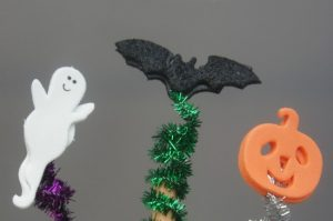 Simple to make Halloween pencil toppers