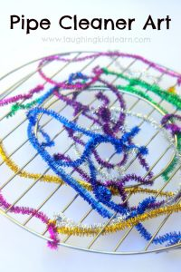 pipe cleaner art for kids to thread with
