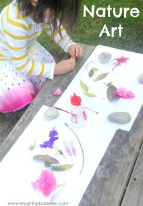 Nature Art for toddlers and preschoolers