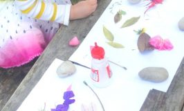 Cut and paste nature art activity