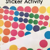 Fine Motor Sticker Activity for kids