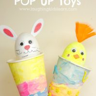 Handmade Easter Pop Up Toy for kids to craft and play with