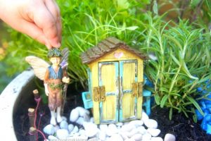 Adding garden sparkle products to the fairy garden
