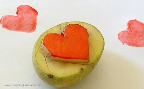 Heart shape potato stamp