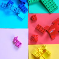 Fun DUPLO LEGO colour or colour matching activity for kids to do and learn from