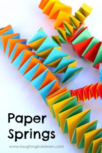 How to make fun paper springs