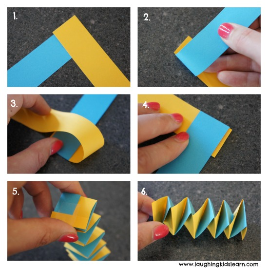 How to make a paper spring
