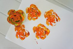 Celery flower stamping craft for kids
