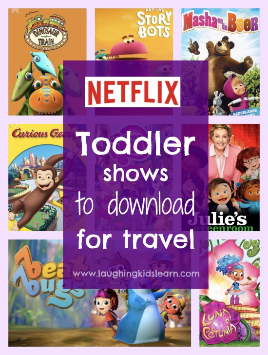 Netflix toddler shows to download for travel