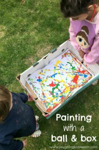 Painting with a ball and box