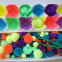 fine motor egg carton activity for kids