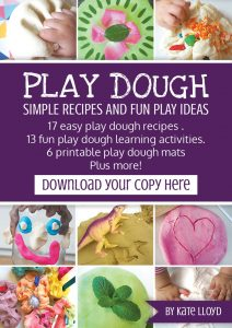 Play Dough Ebook with recipe and play ideas
