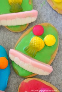 Simple crazy face biscuits kids can decorate