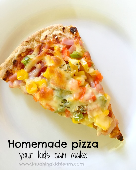 Homemade pizza that kids can make themselves