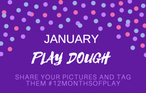 January play dough #12monthsofplay