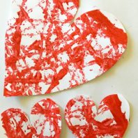 Valentine's Day cards with painted hearts