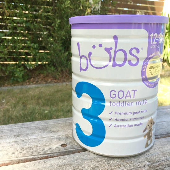 Bubs Australia toddler goats milk