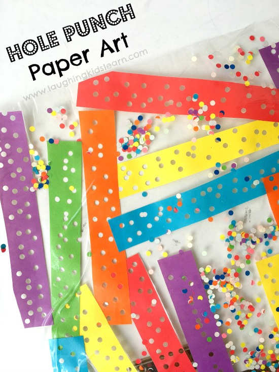 Contact paper hole punch art for kids